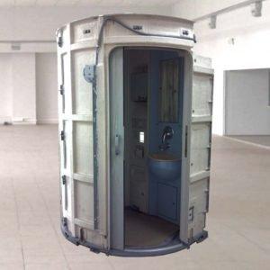 Санитарный модуль пассажирского вагона