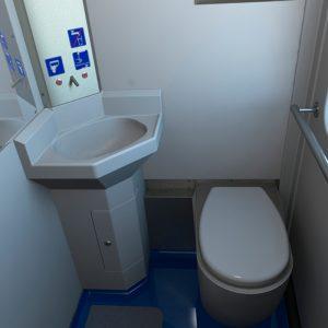 Комплект элементов туалета для дизель-поездов и электропоездов.